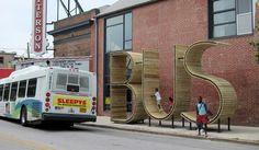 bus-stop at Baltimore