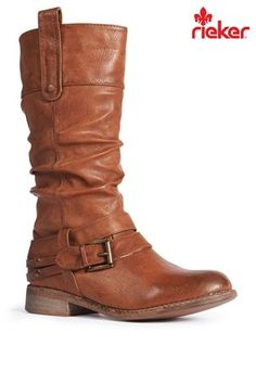 Buy Rieker® Brown Mid Boot from the Next UK online shop Brown Heels, Next Uk, Uk Online, Pumps Heels, Riding Boots, Footwear, Stylish, My Style, Shopping