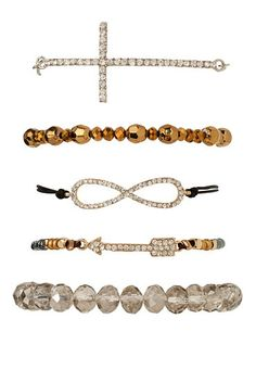 Eternity and Cross Bracelet Set (original price, $14) available at #Maurices
