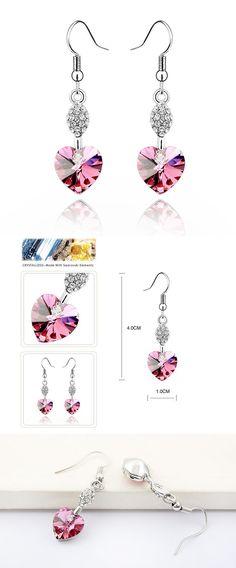 Dangling Rose Pink Hearts Earrings Limited designs in stock | UnmutedBeauty