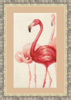 Cross Stitch Kit by Golden Fleece - Flamingo N 3 by ArtfulStitchings on Etsy