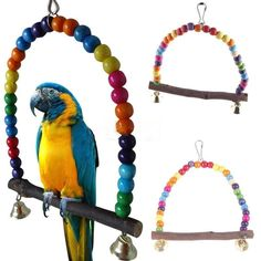 Colorful Bird Toys Parrot Toys Swing Cage Cockatiel Budgie Lovebird Woodens Birds Parrots Swings Wood Papegaaien Speelgoed