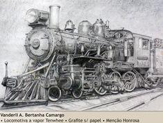 Locomotiva Tenwhee - Vanderli A. B. Camargo - 1998. Imagem do acervo do APHRC