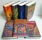 HARRY POTTER Complete Hardcover Book Set 1-7 First American Edition - LIKE NEW