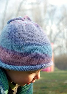 Woolly Wormhead - Baby I-cord Beanie - free Hat knitting pattern