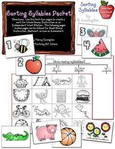 This delightful learning packet by N. Covington gives kids a fresh & entertaining way to learn syllables.  DJ's Back to School Teacher Contest 2014