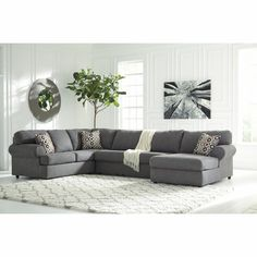 Signature Design by Ashley - Jayceon (Steel) 3-Piece Sectional