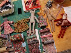Upcoming felt kits - mouse, fox, bunny, kitty - Alicia Paulson