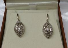 Vintage Ohrstecker - Ohrringe Ohrstecker Silber 925 Kristalle rar SO222 - ein Designerstück von Atelier-Regina bei DaWanda