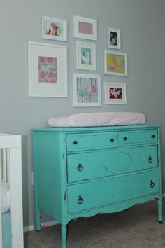 expensive nursery | Emerson's Yellow, Aqua, and Pink Nursery - Project Nursery