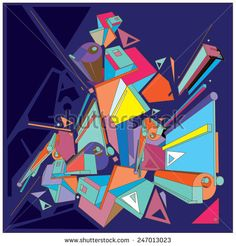 Geometric design abstract background for poster - stock vector