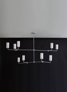 """2 Tiered Mobile Rope Chandelier 66"""" wide x 48"""" x 24"""" high Other colors to choose from Bone Simple Design"""