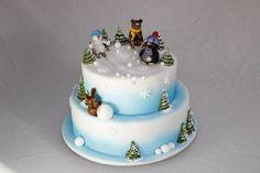 1171. krteček v zimě Winter Cakes, Birthday, Desserts, Christmas, Minecraft, Food, Design, Tailgate Desserts, Xmas
