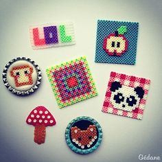 Hama mini perler bead crafts by Gédane