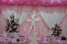 Ballerinas with Bracelets party decor Ballerina Party Decorations, Ballerina Birthday Parties, Birthday Party Themes, Ballerina Baby Showers, Dance Themes, Tutu Party, Birthday Table, Princess Theme, Bday Girl