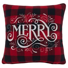 Plaid Throw Pillows, Wash Pillows, Christmas Pillow, Christmas Décor, Holiday, Buffalo Plaid, Red And Black Plaid, Memorable Gifts, Plaid Pattern