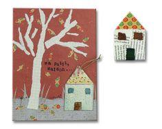 """Spilla casetta tetto fiori con illustrazione """"Ma petite Maison"""" realizzata da MYFAVOURITELULLABY e in collaborazione con l'illustratore italiano MASSIMO SCOPOSKI — La Casa di Ninni"""