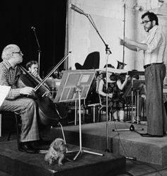 Anything went in the 60s, including bringing your puppy to rehearsals. Luciano Berio conducts Rostropovich.