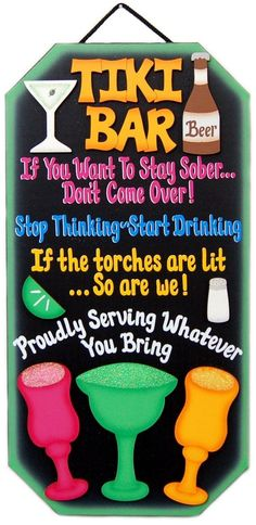 Your place to buy and sell all things handmade - Krissy Rioux - Your place to buy and sell all things handmade Love this sign for my Tiki Bar. Tiki Bar Signs, Tiki Bar Decor, Pool Signs, Tiki Party, Luau Party, Tikki Bar, Outdoor Tiki Bar, Outdoor Decor, Wood