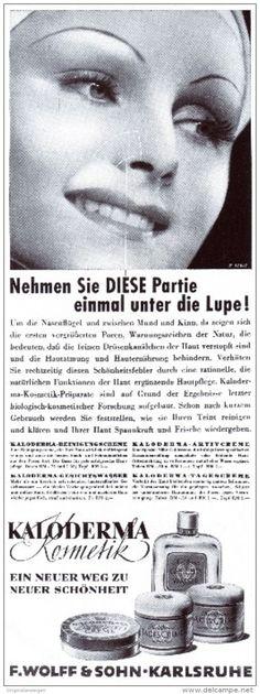 Original-Werbung/ Anzeige 1941 - KALODERMA KOSMETIK / WOLFF - KOSMETIK - ca. 90 x 270 mm