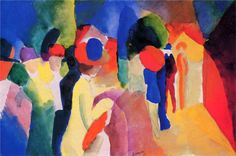 Woman with a Yellow Jacket - August Macke - WikiPaintings.org