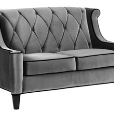 Gray barrister love seat. Drool. From Armen Living.