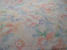 Fabric Sheet Floral Fabric90 inch X 100 inch by SuzyQsVintageShop, $8.75