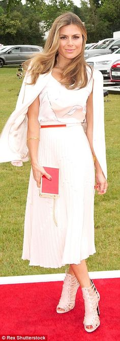 A bit of all-white:Zoe Hardman and Gemma Chan both opted for glamorous white looks...