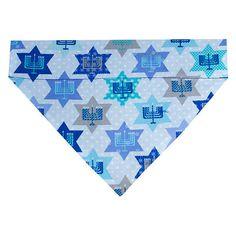 Hanukkah Dog Bandana Scarf  Size Medium  Stars by MaxwellLaneDogs