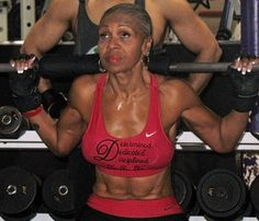 What if I told you the above beauty is 72 years old?  Would you want to have a bod like that at 72?  Heck 62?  This is Ernestine Shepard, her motto is, 'Determined, Dedicated, Disciplined'.  I love it when a 'normal' person has their own motto, even better when they follow it. I know what your second thought may be?  Well, she must of been an athlete her whole life.  Nope, Ernestine didn't start working out until she was 56 years old!