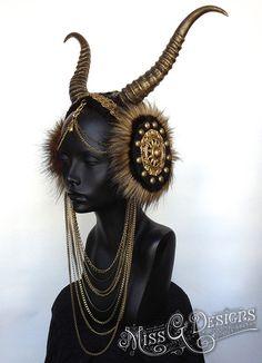 MADE TO ORDER Vegan Faux Horn Headdress