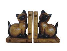 Buchstützen Katzen sitzend, H: 17 cm von Colmado Geschenke Shop auf DaWanda.com