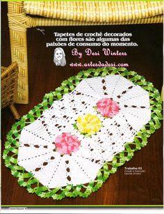 Artes da Desi: Tapete de Crochê Flor da Amizade http://www.artesdadesi.com/2014/09/tapete-de-croche-flor-da-amizade.html