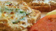 Tuna Melts A cheesy tuna sandwich with onion and melted mozzarella. Canned Tuna Recipes, Fish Recipes, Seafood Recipes, Cooking Recipes, Recipies, Frugal Recipes, Frugal Meals, Yummy Recipes, Chicken Recipes