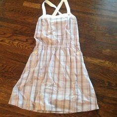Lacoste plaid dress Cute little Lacoste light blue plaid dress, size 38 Lacoste Dresses