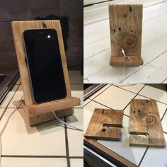 IPhone Stand Android Stand Recycled Wood Rustic Style Cell Phone Charging Stand - Iphone Holder - Ideas of Iphone Holder - Excited to share the latest addition to my shop: IPhone Stand Android Stand Recycled Wood Rustic Style Cell Phone Charging Stand Diy Phone Stand, Wood Phone Stand, Desk Phone Holder, Iphone Holder, Wooden Phone Holder, Support Iphone, Android, Support Telephone, Bois Diy