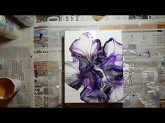 Acrylic Pouring Art - How to make beautiful artwork using an acrylic pouring technique. Fluid art pouring tutorial and marbling technique Acrylic Pouring Techniques, Acrylic Pouring Art, Acrylic Art, Bloom, Acrylic Flowers, Fluid Acrylics, Flower Art, Mandala, Pour Painting