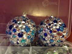 Blue ornaments I made at Christmas time 2013