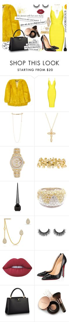 """""""HELLO YELLOW 😎"""" by yurisnazalieth ❤ liked on Polyvore featuring STELLA McCARTNEY, Roberto Coin, Rolex, Paul Morelli, Chopard, Anne Sisteron, Lime Crime, Christian Louboutin, Kate Spade and Nude by Nature"""