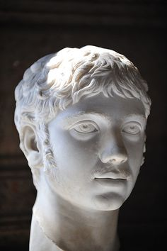 Emperor Elagabalus (Heliogabalus), head of Roman sculpture (marble), 3rd century AD, (Palazzo Nuovo, Rome). [by Brian Topp]