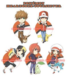 Pokemon trainer keychains by gladyfaith.deviantart.com on @deviantART