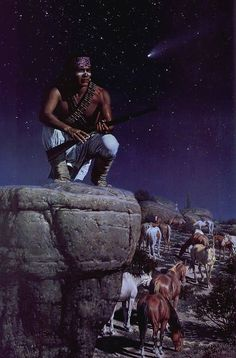 David Nordahl : Starry Night - The Model is George Tahdonipa , a friend of mine as well