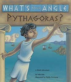 What it's about A fictionalized story about how a curious boy named Pythagoras first learned about right angles and then, through experimentation and observation, discovered his famous theorem. Full of clever puns and vibrant cartoon illustrations depicting ancient Greece. Why we like it A superb way to introduce the Pythagorean theorem in the classroom!