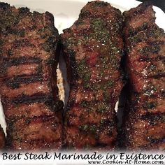 Best Steak Marinade in Existence4:58 PM Posted by Sandy BarretteNoCommentsBest Steak Marinade in Existence