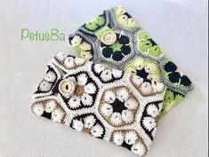 Funda para móvil de flor africana en crochet