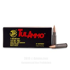 TulAmmo 7.62x39 Ammo - 1000 Rounds of 122 Grain FMJ Ammunition #Tula #TulAmmo #7.62x39Ammo #7.62x39 #FMJ