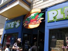 Ike's Place in San Francisco. Supposedly over 200 sandwiches. Came from vegansaurus.com so has to bee some good vegan choices too.