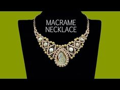 ▶ Macrame Necklace with Stone and Beads - Tutorial - YouTube