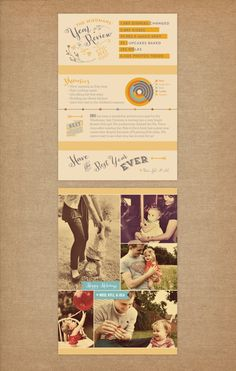 Vintage Year in Review Photo Cards - Printable Holiday Infographic Newsletter Cards - Double-sided - Printable or Printed Christmas Cards