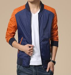 Men's casual long sleeve zip style mixed color, front side insert pockets, Zip fastenings on the front, Rib bottom. Winter Hoodies, Bomber Jacket Men, Men's Jackets, Cotton Jacket, Sport Wear, Renewable Energy, Color Mixing, Men's Fashion, Men Casual